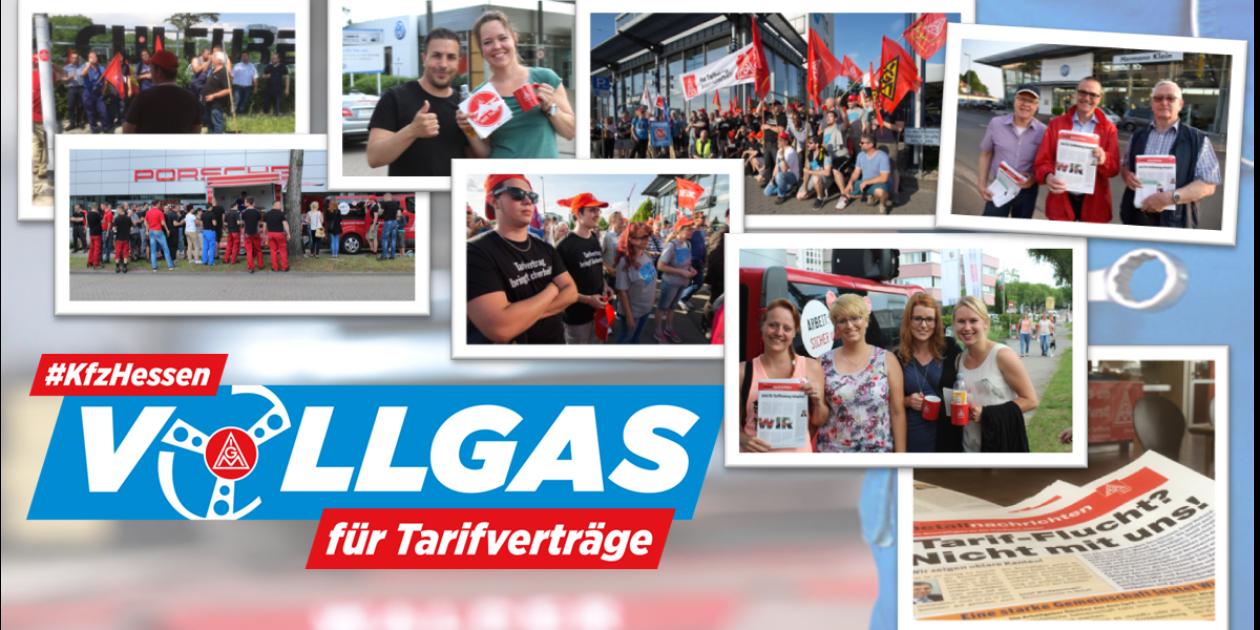 Kfz-Aktionstag der IG Metall - Bundesweite Warnstreiks und Demos vor Autohäusern