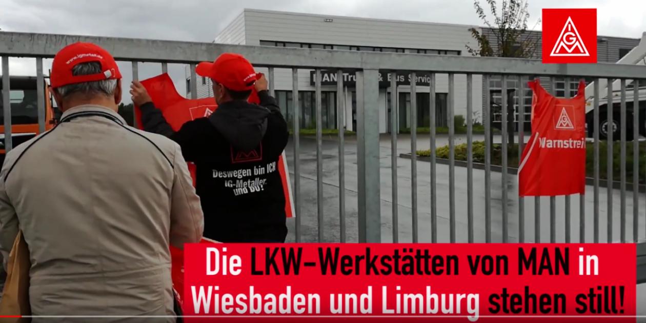 Video: MAN LKW Werkstatt 2 Tage stillgelegt – Warnstreik Taunus Autohaus