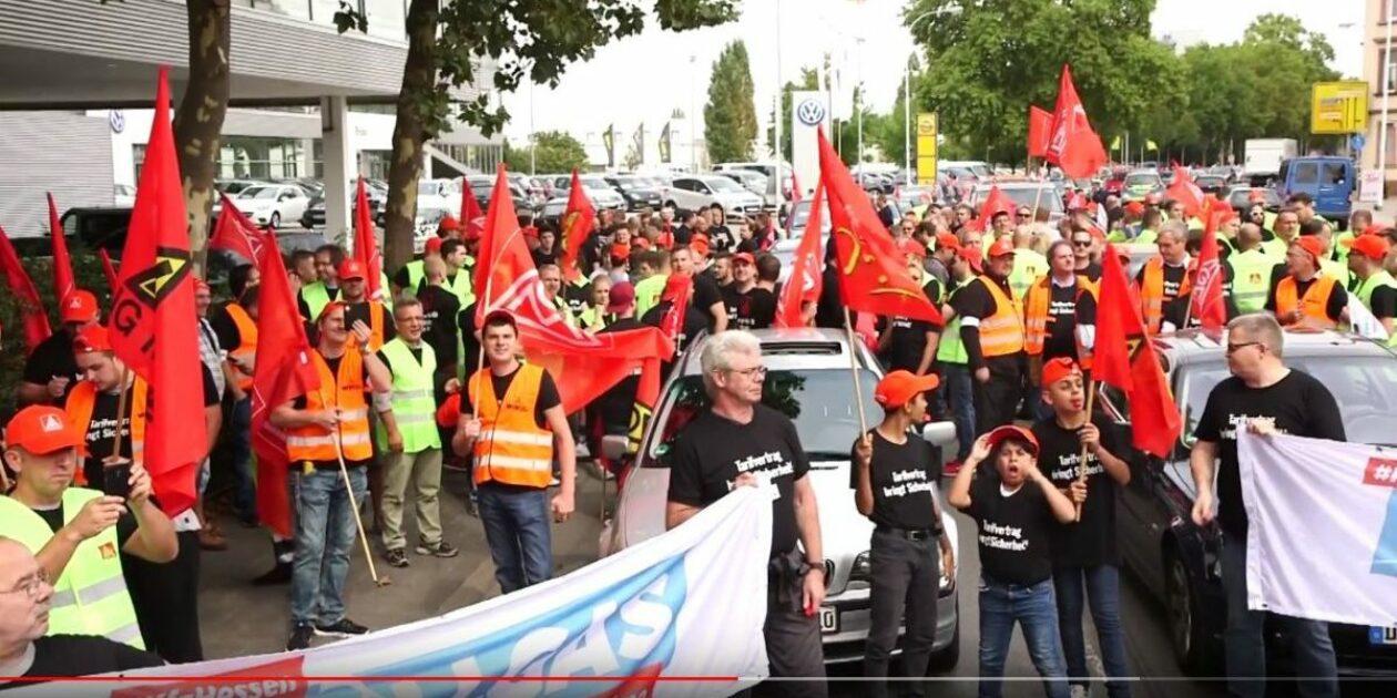 Video: Vollgas für Tarifverträge! Autokorso nach Darmstadt