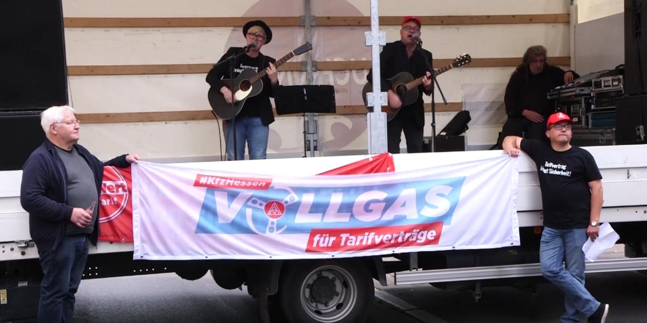 Video: #kfzhessen - Solidarität für Tarifverträge - Werkstatt Blues - Kleinundglücklich Solidaritätslied für Warnstreikende Kfz Beschäftigte