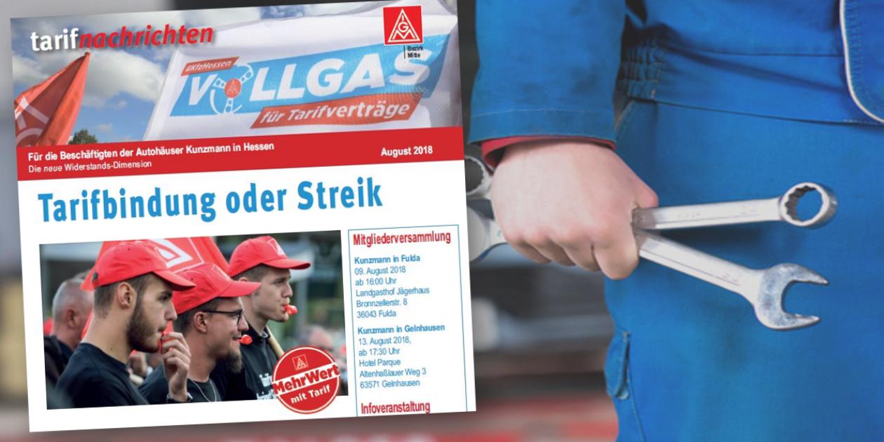 3:1 für IG Metall Tarifvertrag – Robert Kunzmann GmbH & Co KG  flüchtet mit 3 Autohäusern in die Tarifgemeinschaft.