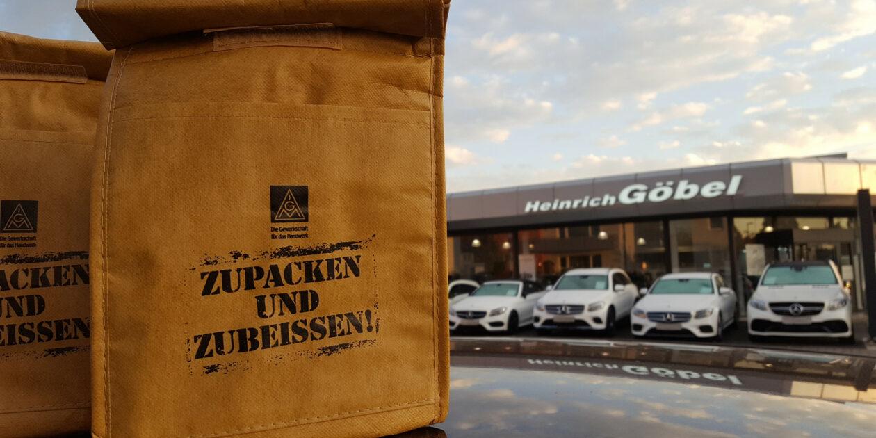#KFZHessen - Vollgas für Tarifverträge - Frühstücksaktion bei Kunzmann und Heinrich Göbel