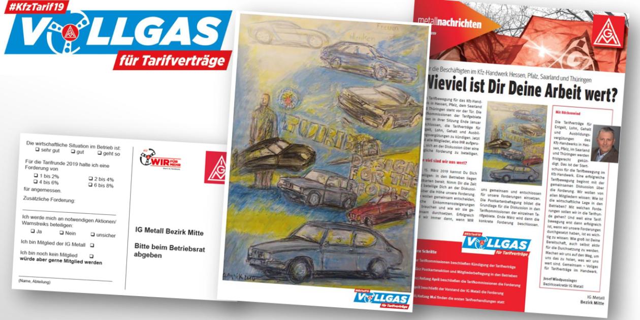 Forderungsdiskussion - Tarifrunde 2019 für die Betriebe des KFZ Handwerkes Hessen in der Tarifgemeinschaft startet