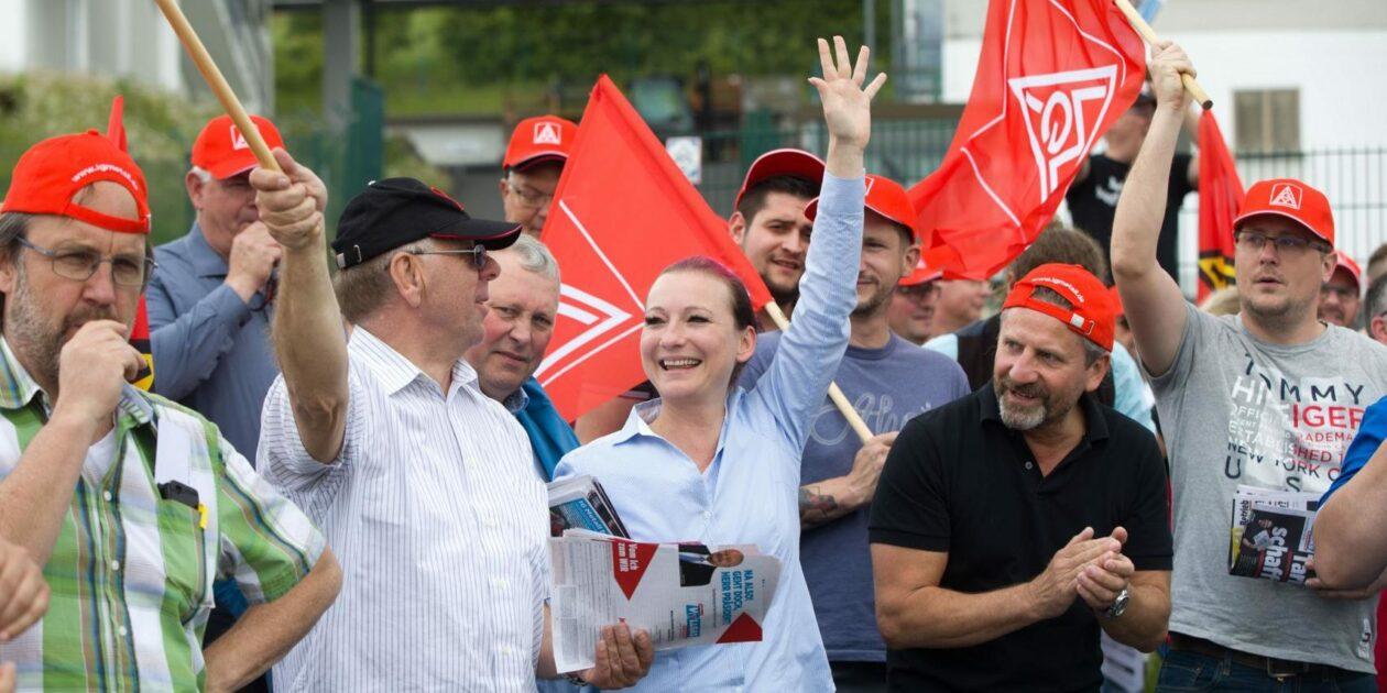 Video: Gewerkschafter geben Vollgas: Demonstration für Tariferhöhung und Tarifbindung in Idsteiner Autohäusern