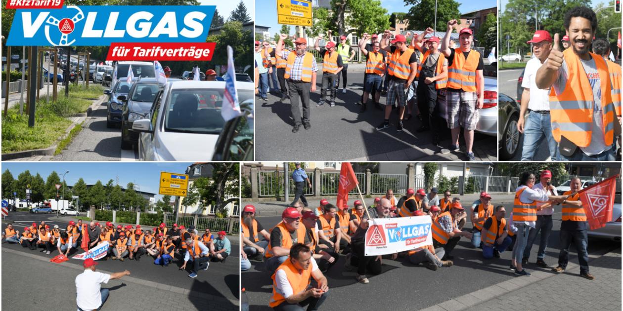 Fulda/Kassel Warnstreikwelle für Kfz Tarifrunde rollt – Der Staffelstab läuft durch Hessen