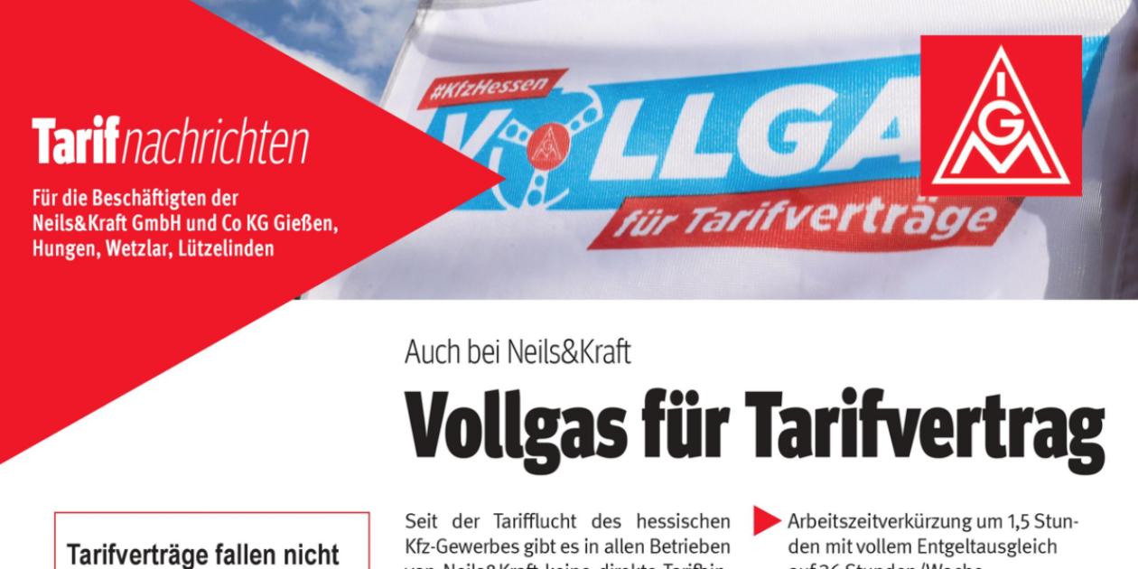 Verhandlungsergebnis für Tarifbindung in weiteren 5 Autohäusern von Neils&Kraft – Erfolg von Solidarität und Vernunft