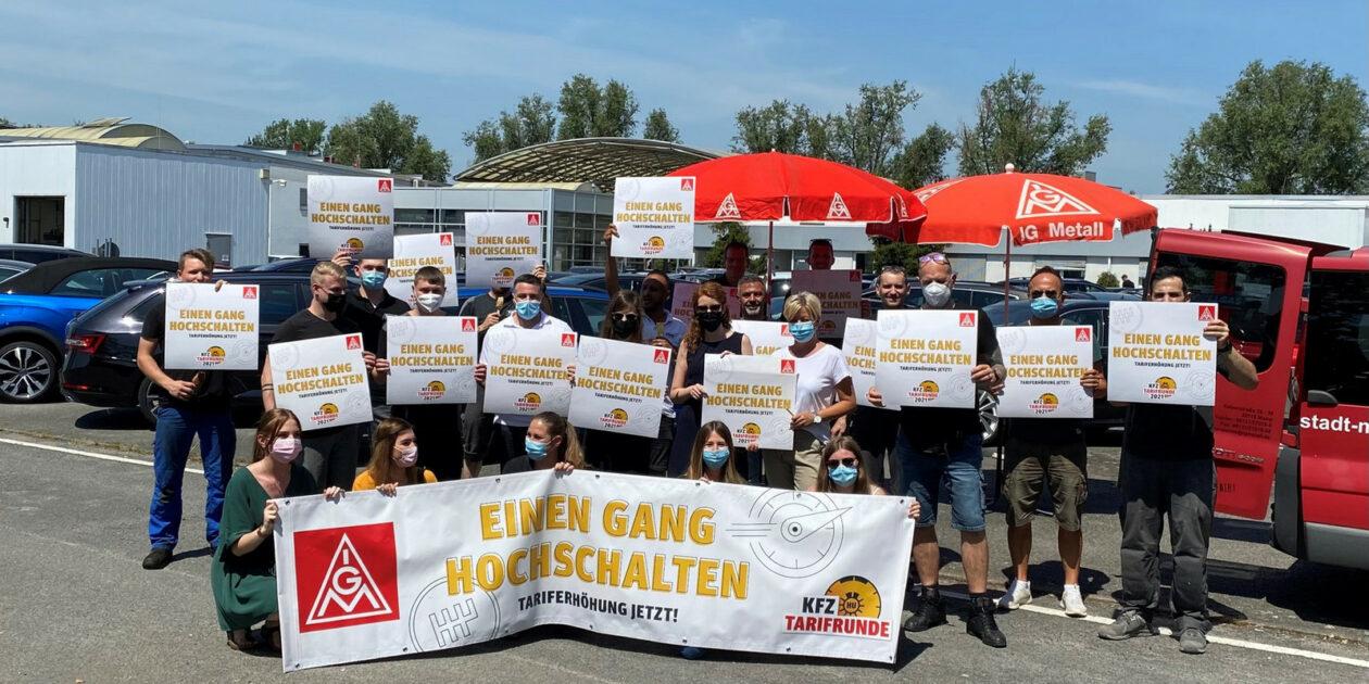Tarifrunde KFZ Handwerk Hessen - Aktive Mittagspause
